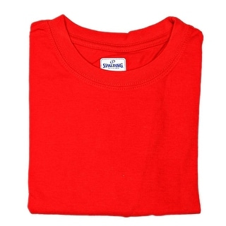 Spalding Short Sleeve Crew Neck Tee Men Regular Basic T-Shirt