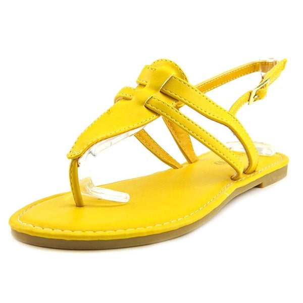 Sunny Feet Sequoia-27 Women  Open Toe Synthetic Yellow Thong Sandal