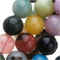 Gemstone Bead Multi Mix 8mm Round Beads /16 Inch Strand