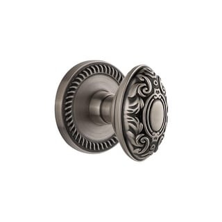 "Grandeur NEWGVC_PSG_234  Newport Solid Brass Rose Passage Door Knob Set with Grande Victorian Knob and 2-3/4"" Backset"