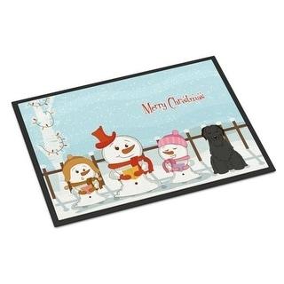Carolines Treasures BB2412MAT Merry Christmas Carolers Briard Black Indoor or Outdoor Mat 18 x 0.25 x 27 in.