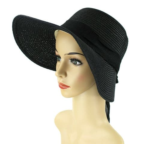 2efb2fba2156 Buy Black, Sun Hat Women's Hats Online at Overstock | Our Best Hats ...