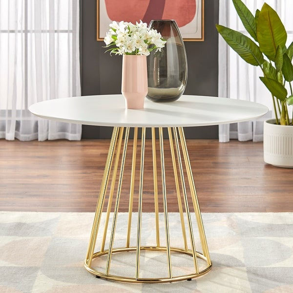 """Simple Living Marsai Round Dining Table - 43.3"""" diameter. Opens flyout."""