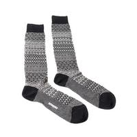 Missoni GM00CMU4655 0004 Black/White Knee Length Socks - S