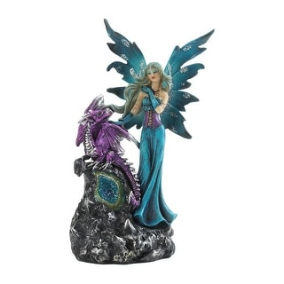 Newly Gothic Fairy And Dragon Figurine