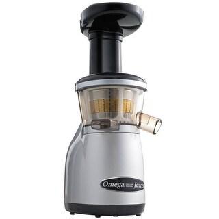 Omega Juicers VRT350 Vertical Masticating HD Juicer, Silver & Black