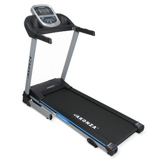 AKONZA Motorized Electric 3 Built-in Programs Fitness Running Treadmill Machine w/ Heart Rate Monitor