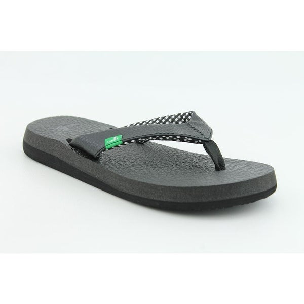 Sanuk Yoga Mat Women Open Toe Synthetic Black Flip Flop Sandal