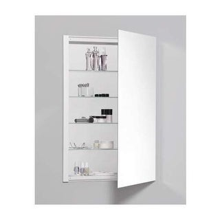 "Robern RC2436D4FP1 R3 24"" x 36"" x 4"" Plain Single Door Medicine Cabinet with Rev"
