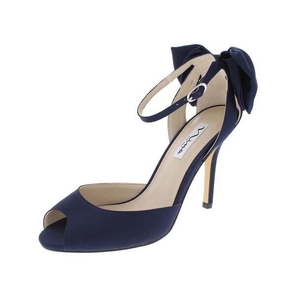 0428d337f847 Shop Nina Womens Martina Peep-Toe Heels Bow Back Evening - Free ...