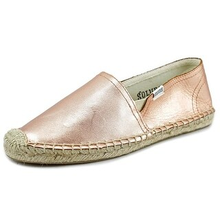 Soludos Original Espadrille Youth Round Toe Leather Pink Espadrille