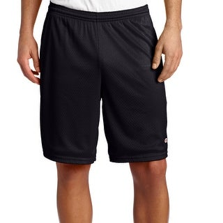 Champion NEW Black Mens Size 2XL Mesh Drawstring Shorts Atlethic Apparel