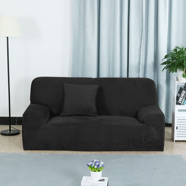 Shop Flannel Stretch 1 2 3 4seats Sofa Cover Loveseat