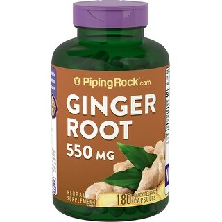 Piping Rock Ginger Root 550 mg (180 Quick Release Capsules)