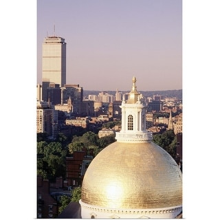 """State House dome and skyline, Boston, Massachusetts"" Poster Print"