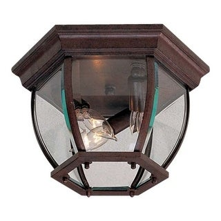 "The Great Outdoors GO 71174 3 Light 10.75"" Width Flush Mount Ceiling Fixture"
