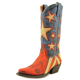 Redneck Riviera Ol' Dixie Women Pointed Toe Leather Red Western Boot