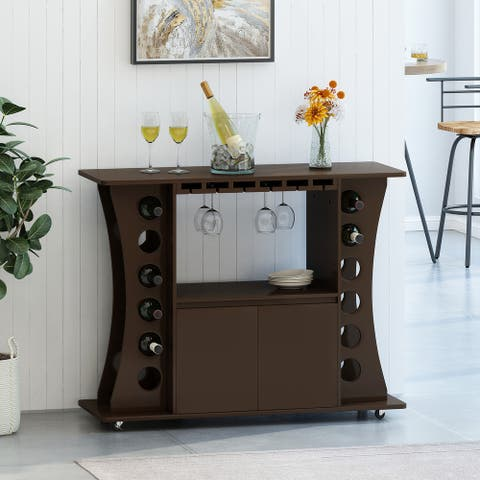 Moultrie Indoor 2 Door Wine Cart by Christopher Knight Home