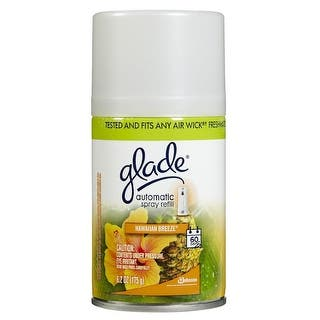 Glade 71777 Automatic Spray Refill, Hawaiian Breeze, 6.2 Oz. https://ak1.ostkcdn.com/images/products/is/images/direct/b7bf31a1152d678ed50fae85268590eb3bf9e048/Glade-71777-Automatic-Spray-Refill%2C-Hawaiian-Breeze%2C-6.2-Oz..jpg?impolicy=medium