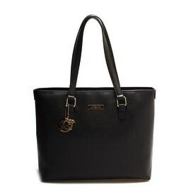 Versace Collection Large Pebble Leather Tote Handbag Black