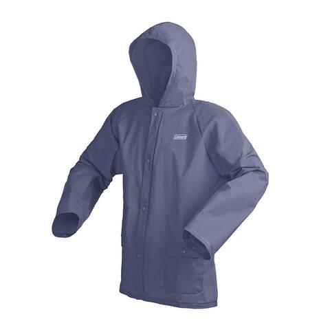 COLEMAN Blue Men Large L/XL Snap-Button Hooded Rainwear Jacket