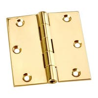 Door Or Cabinet Hinge Solid Brass Square 3x 3 | Renovator's Supply
