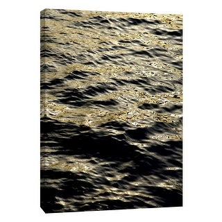 """PTM Images 9-105320  PTM Canvas Collection 10"""" x 8"""" - """"Gray Gold & Black Leopard Seas #2"""" Giclee Nautical and Ocean Art Print on"""