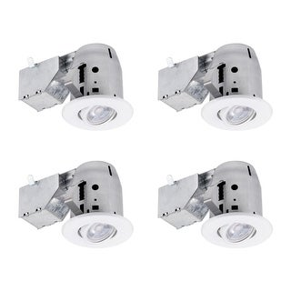 """Globe Electric 90718 LED Integrated 3"""" Recessed Lighting Kit - Pack of 4"""