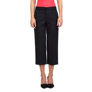 Miu Miu Women's Virgin Wool Slim Fit Stretch Pants Black