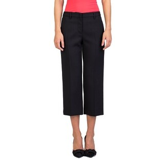 Miu Miu Women's Virgin Wool Slim Fit Stretch Pants Navy