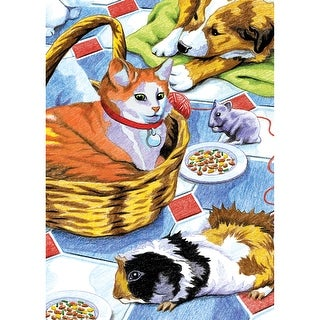 """Mini Color Pencil By Number Kit 5""""X7""""-Family Pets"""