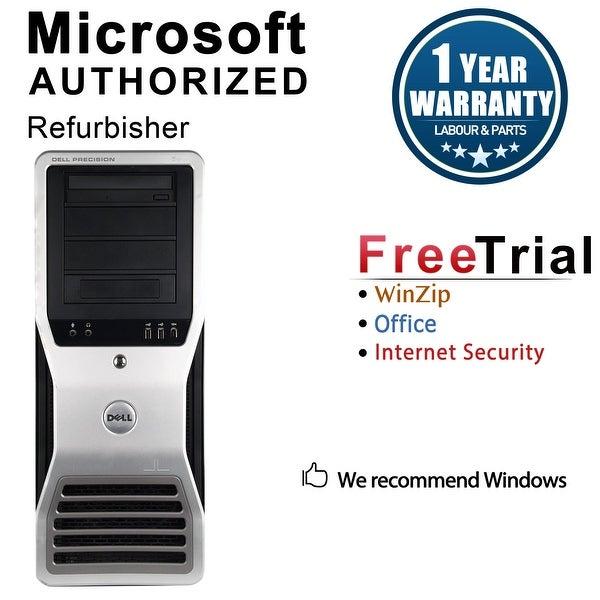 Dell Precision T7500 Workstation Tower Intel Xeon E5620 2.4G 8GB DDR3 1TB NVS300 Windows 10 Pro 1 Year Warranty (Refurbished)