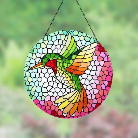 Hanging Mosaic Hummingbird Suncatcher