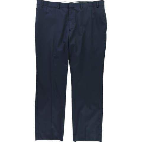 Ralph Lauren Mens Basic Dress Pants Slacks, Blue, 40W x 30L - 40W x 30L