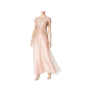 Shop Adrianna Papell Womens Formal Dress Beaded Cap Sleeves 10