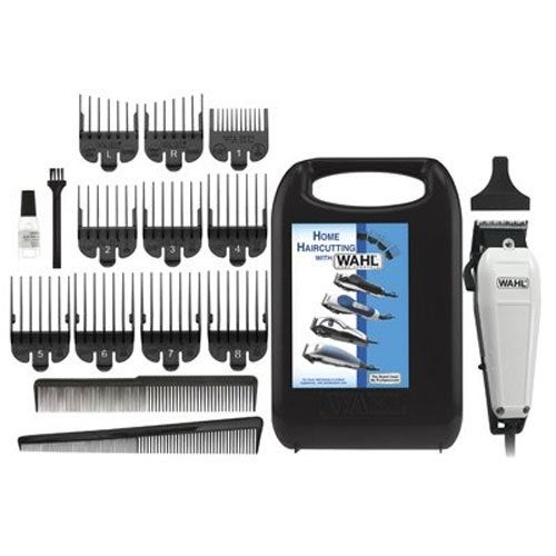 Wahl The Styler Haircutting Adjustable Clipper 17-pc Kit - White - 10.00 x 6.13 x 3.13