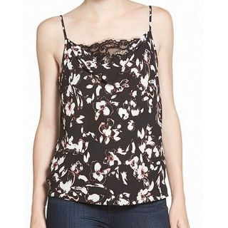 Chelsea28 NEW Black Smoky Women Size Small S Floral Lace Drape Cami Top