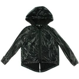 Rebecca Minkoff Womens Livingston Hi-Low Hooded Windbreaker Jacket - M