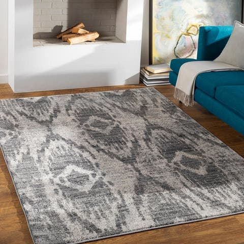 Arielle Ikat Patterned Area Rug