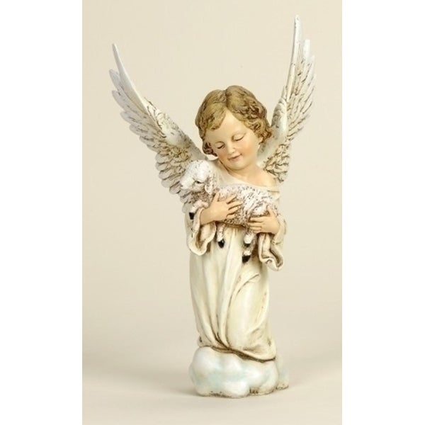 Pack of 2 Joseph's Studio Cherub with Lamb Christmas Figures 14""