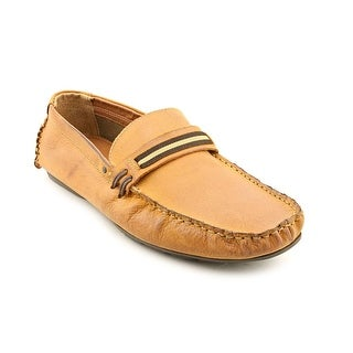 Steve Madden Grant Men  Moc Toe Leather Tan Loafer