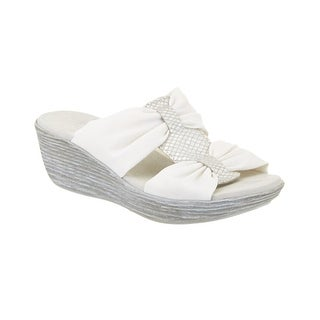 Munro NEW White Women's Shoes Size 10M Vanessa Wedge Sandal