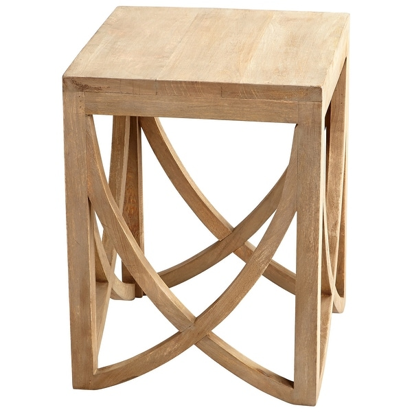 """Cyan Design 07020 Lancet 18"""" Wood End Table - Light French Gray"""