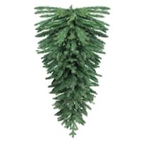 "60"" Mixed Pine Artificial Christmas Teardrop Swag - Unlit - green"