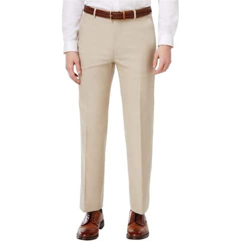 Tommy Hilfiger Mens Performance Dress Pants Slacks, Beige, 36W x 34L