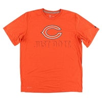 08408570b Nike Mens Chicago Bears NFL Fast Wordmark T Shirt Orange - Orange Black - l