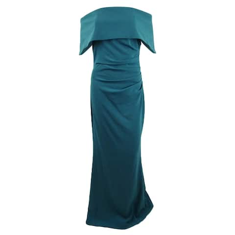 Vince Camuto Women's Ruched Off-The-Shoulder Gown