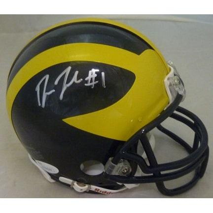 Devin Funchess Autographed Michigan Wolverines Riddell Mini Helmet JSA