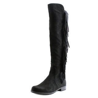 Unisa Calbii Women Round Toe Canvas Black Over the Knee Boot