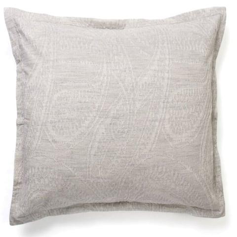 Cottage Home Addy Grey Cotton Paisley Jacquard Pillow Sham